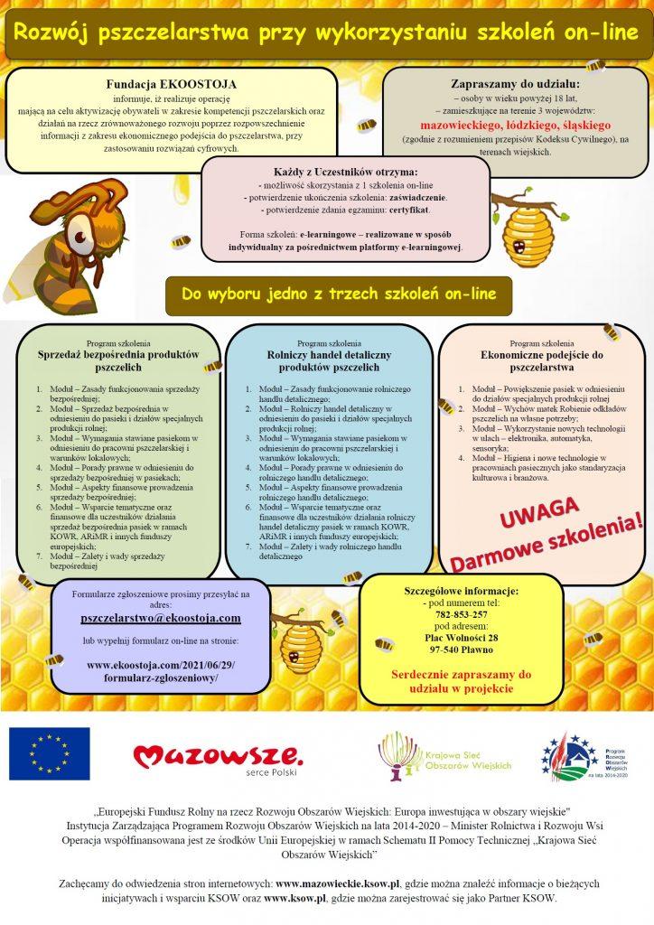 plakat, dotyczący szkolenia