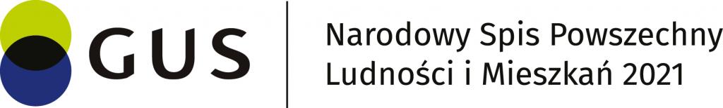 logo Głownego Urzędu Satystycznego oraz napis Narodowy Spis powszechny Ludności i Mieszkań 2021